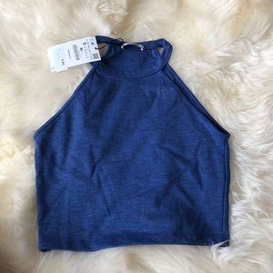 Zara High Neck Crop Top